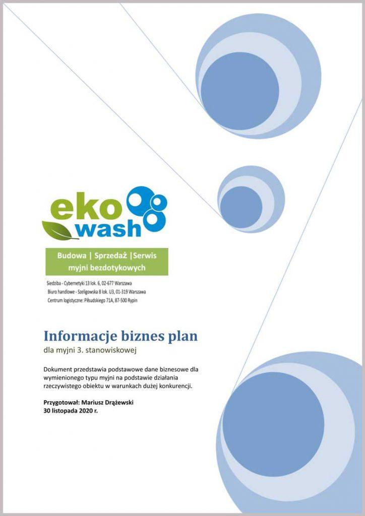 Biznes plan dla myjni 3. stanowiskowej Ekowash